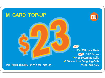 M1 My Top-up $23