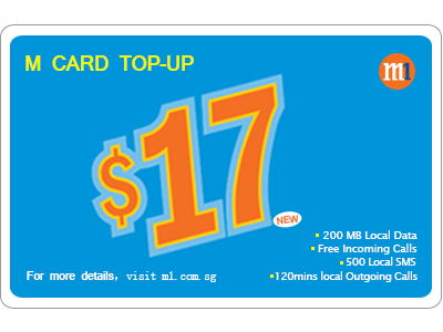 M1 My Top-up $17